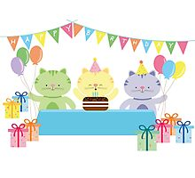 Happy Cat Birthday! Photographic Print
