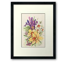 Delicate Flowers Framed Print