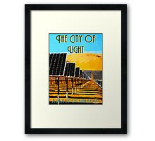 The 100 - Vintage Travel Poster (The City of Light) Framed Print