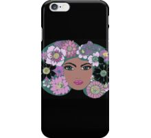 She wore flowers iPhone Case/Skin