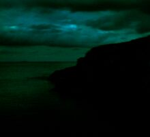 Mutton bird island at night by April Ward