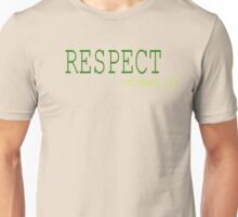 Respect Refugees Green Unisex T-Shirt