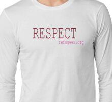 Respect Refugees Red Long Sleeve T-Shirt