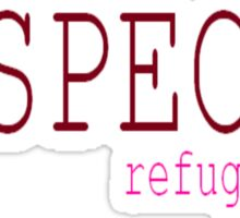 Respect Refugees Red Sticker