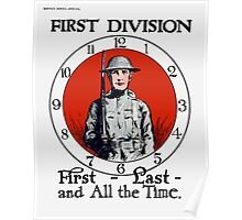 First - Last - And All The Time -- WW1 Poster
