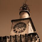 Castellane - Clock Tower by jean-louis bouzou