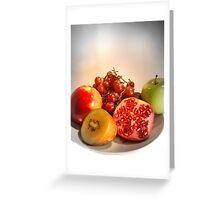 Organic Fruits - Healthy Choice Greeting Card