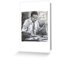 Jazz portrait- Gene Kupra Greeting Card