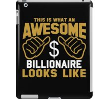 This is What an Awesome Billionaire Looks Like Retro iPad Case/Skin