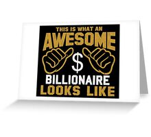 This is What an Awesome Billionaire Looks Like Retro Greeting Card
