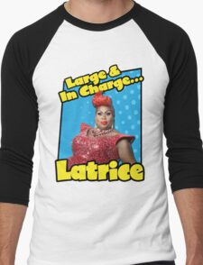 Large & In Charge... Latrice! Men's Baseball ¾ T-Shirt