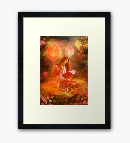 The Poetess Framed Print