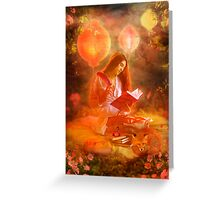 The Poetess Greeting Card
