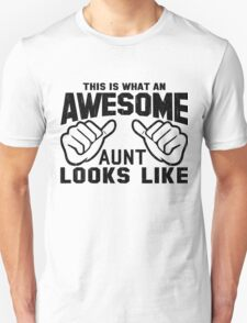 This is What an Awesome Aunt Looks Like Retro T-Shirt