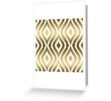 Fold And White Geometric Pattern Teardrop Pattern Greeting Card