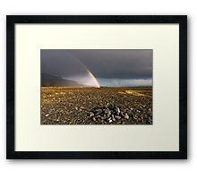 Rainbow in Iceland Framed Print