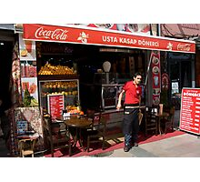 Coke Salesman Photographic Print