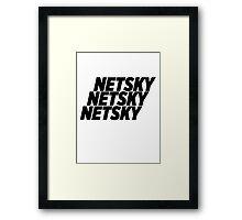 3 Netsky shirt Framed Print