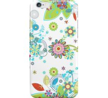 Colorful Abstract Floral Seamless Pattern iPhone Case/Skin