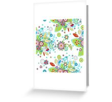 Colorful Abstract Floral Seamless Pattern Greeting Card