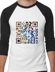 QR Code Galaxy Eagle Men's Baseball ¾ T-Shirt