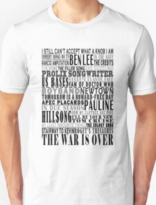 The Chaser - Song Titles T-Shirt
