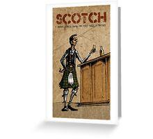 Scotsman's Scotch Greeting Card