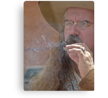 Smokin' Mt Man Metal Print