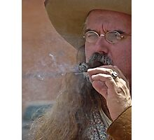 Smokin' Mt Man Photographic Print