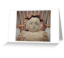 ...face of old doll... Greeting Card