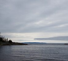 Grey Day on Lake Superior by PeggCampbell