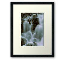 CASCADES Framed Print