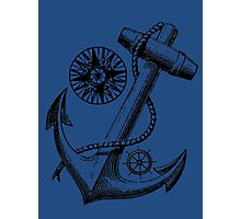Vintage Nautical Anchor Design Photographic Print