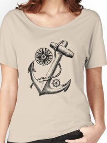 Vintage Nautical Anchor Design Women's Relaxed Fit T-Shirt