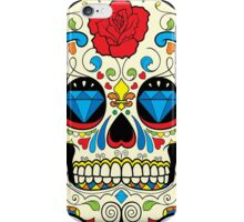 Colorful Retro Floral Sugar Skull iPhone Case/Skin