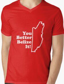 Belize It Mens V-Neck T-Shirt