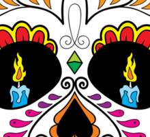 Colorful Retro Floral Sugar Skull 2 Sticker