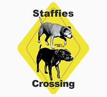 Staffies Crossing Sign Unisex T-Shirt
