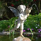 VanDusen Angel in a Fountain by Carol Clifford