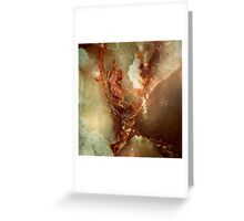 Realistic Brown Faux Marble Stone Pattern 2 Greeting Card
