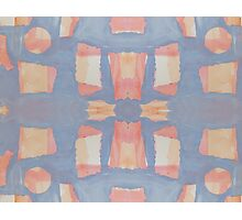Blue and Pink Abstract Photographic Print