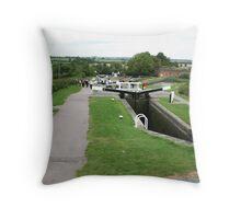 Foxton Locks, Leicestershire (5131) Throw Pillow
