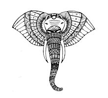 Intricate Elephant Photographic Print