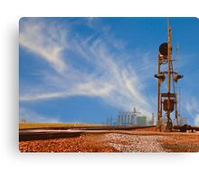 The Country Railroad Crossing Canvas Print