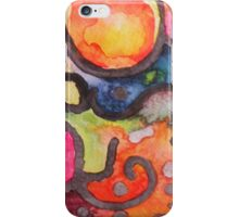 Multicolor Abstract Watercolor by Candace Byington iPhone Case/Skin