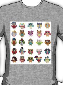 Cute Owls Set T-Shirt
