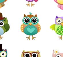 Cute Owls Set Sticker