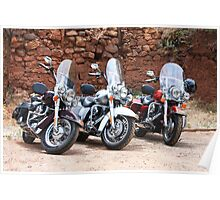 The Harleys and the Wall Poster