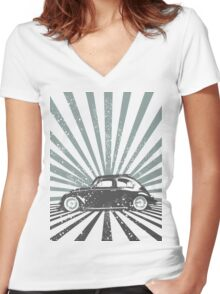 beetle2 Women's Fitted V-Neck T-Shirt