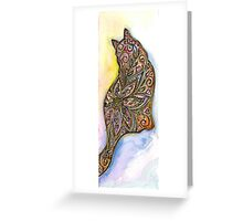 Flower Meow Greeting Card